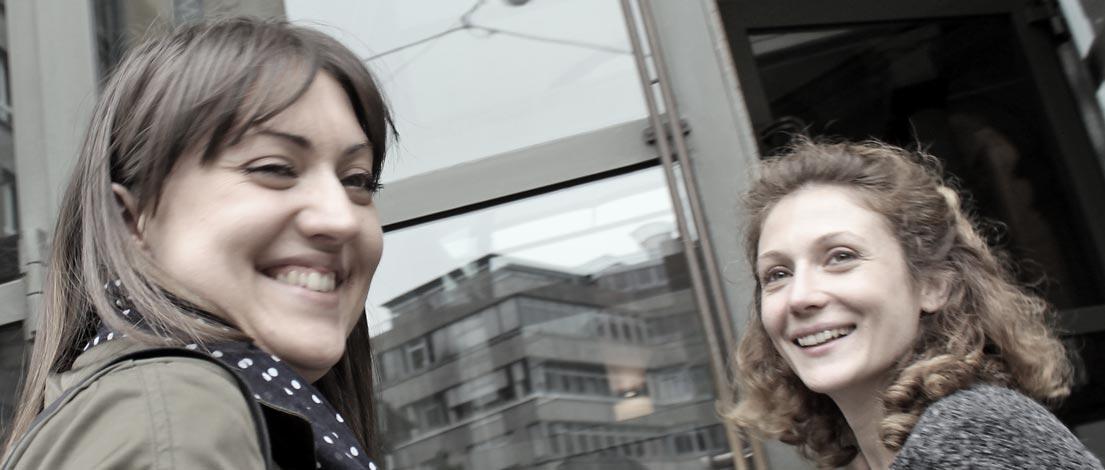 Albina Steiz (Novadex GmbH, Bietigheim-Bissingen) und Nadine Villani (die wegmeister GmbH, Stuttgart).