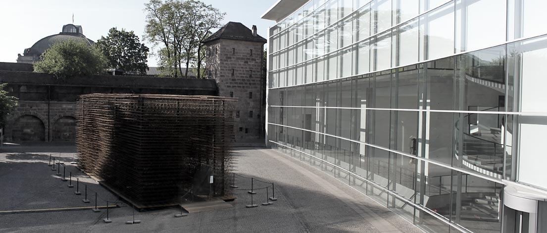 Blick aus dem Fenster der bayern design in Nürnberg.