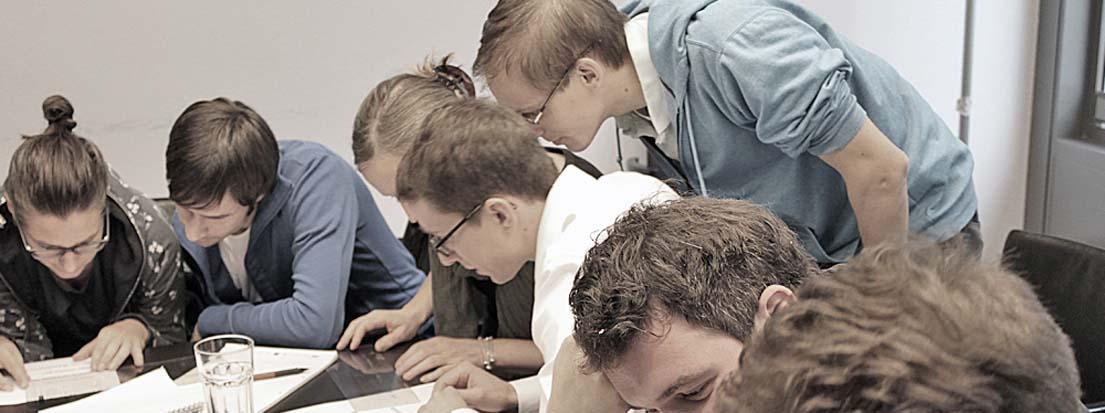 Mitarbeiter von Egger & Lerch, Corporate Publishing. Inhouse-Seminar der Typoakademie mit Wolfgang Beinert bei Egger & Lerch und »Der Standard« in Wien am 20. November 2013.