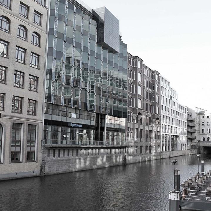 Hamburg Neuer Wall, Bleichenfleet.