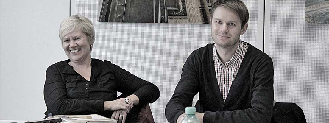 Heike Kircher, AGD (KircherDesign, Osnabrück) und Daniel Neumann (KINOBLAU Design GmbH, Düsseldorf).