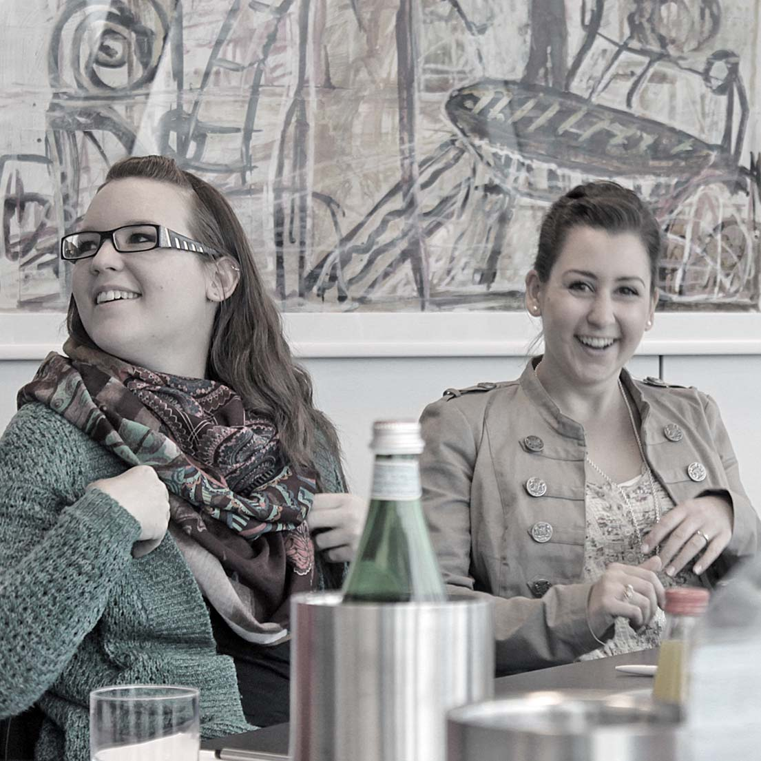 Isabelle Bentscheck (DFM Brand Builders, Bad Homburg) und Jasmin Kielinger (DFM Brand Builders, Bad Homburg).