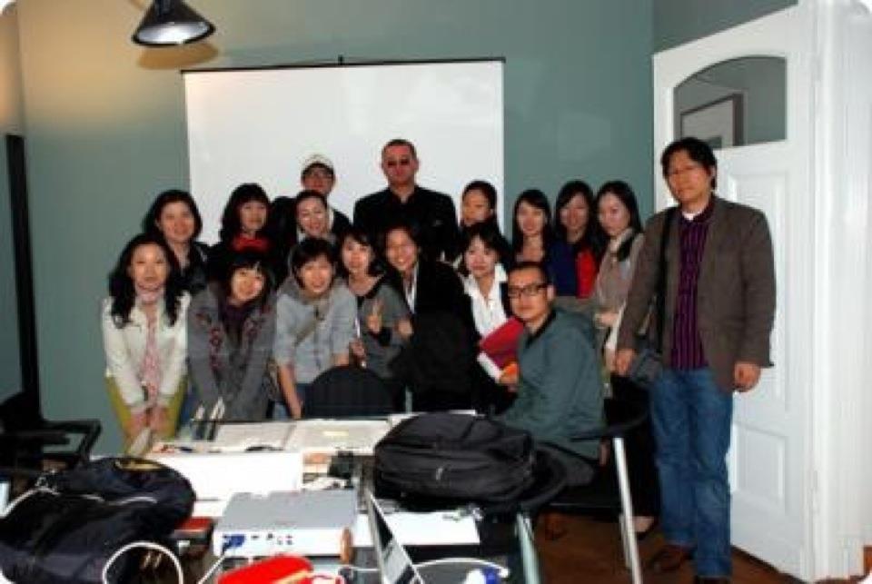 Typografieseminar mit Wolfgang Beinert in Berlin für Mitglieder des Korea Institute of Design Promotion am 19. September 2007.