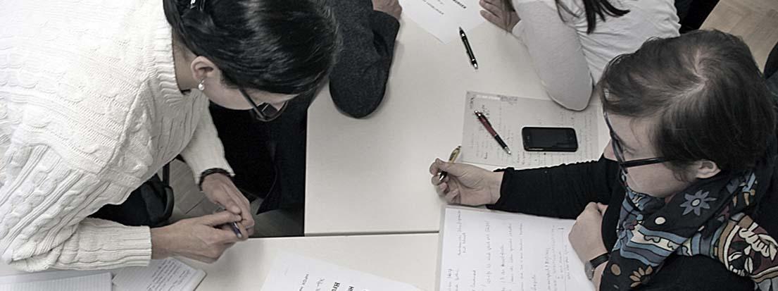 Marcela Malek, Designerin, Wien, und Bianca Stipsits, RABOLD UND CO., Wien.