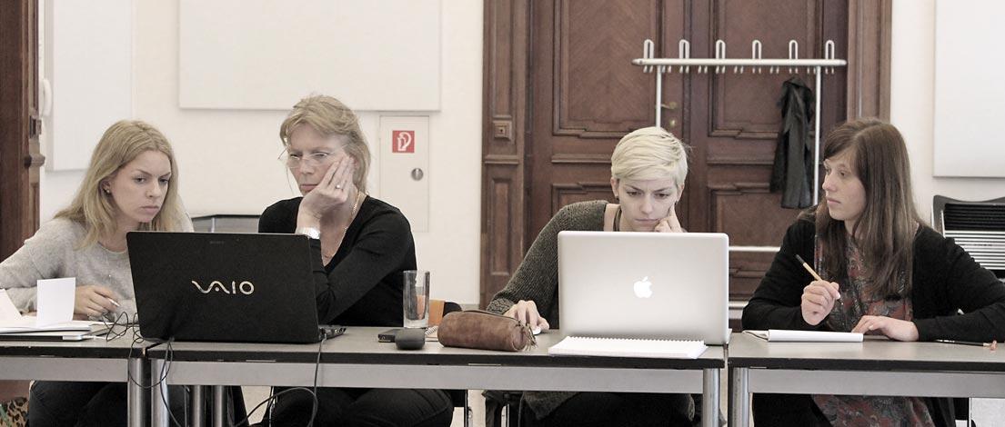 Mareike Baumgartner (Consulting Piezunka & Schamoni - Information Technologies GmbH, Berlin), Heike Vogt, AGD (Webdesign und Fotografie, Potsdam), Vanessa Ruf (Studentin, Hohberg) und Cindy Klärig (myCARE OHG, Wittenberg).