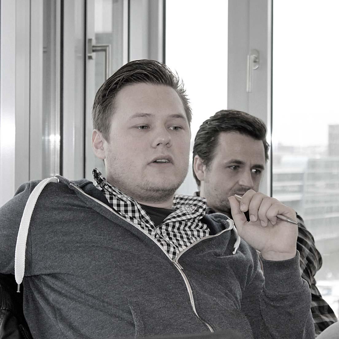 Patrik Dahm (steinzeit-mediendesign, Düsseldorf) und Nico von Nordheim (steinzeit-mediendesign, Düsseldorf).