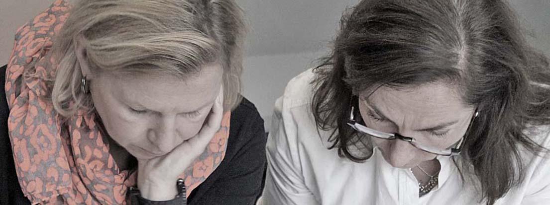Silke Wicker und Karen Haupt. D-2013-11-27