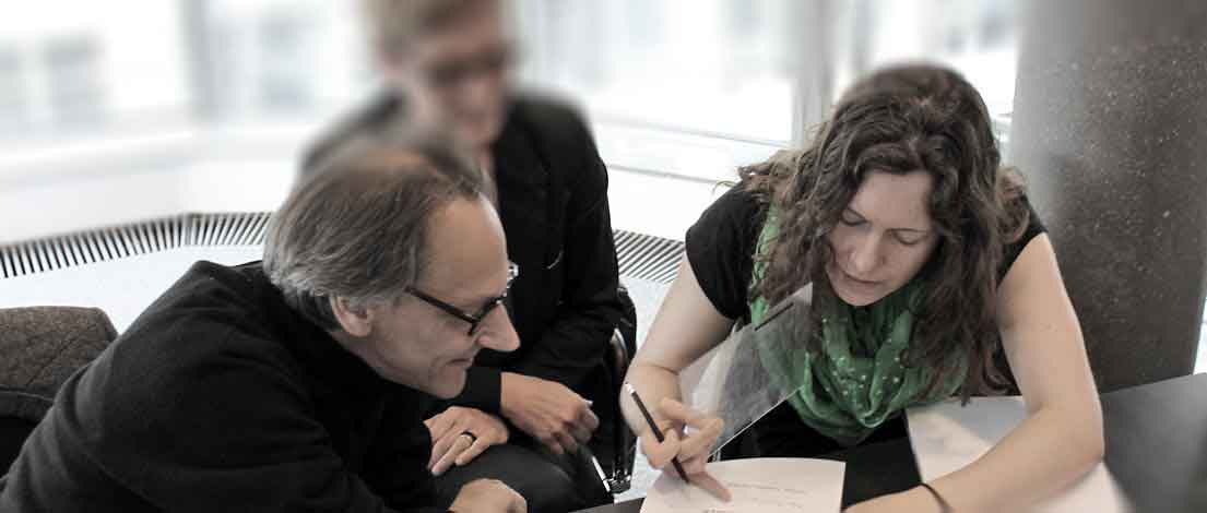 Thomas Dillier (Bureau Dillier, Basel), Sabine Nacken (BRANDIT Marke und Beratung, Köln) und Ana Schlunken (Unternehmenskommunikation, Düsseldorf).