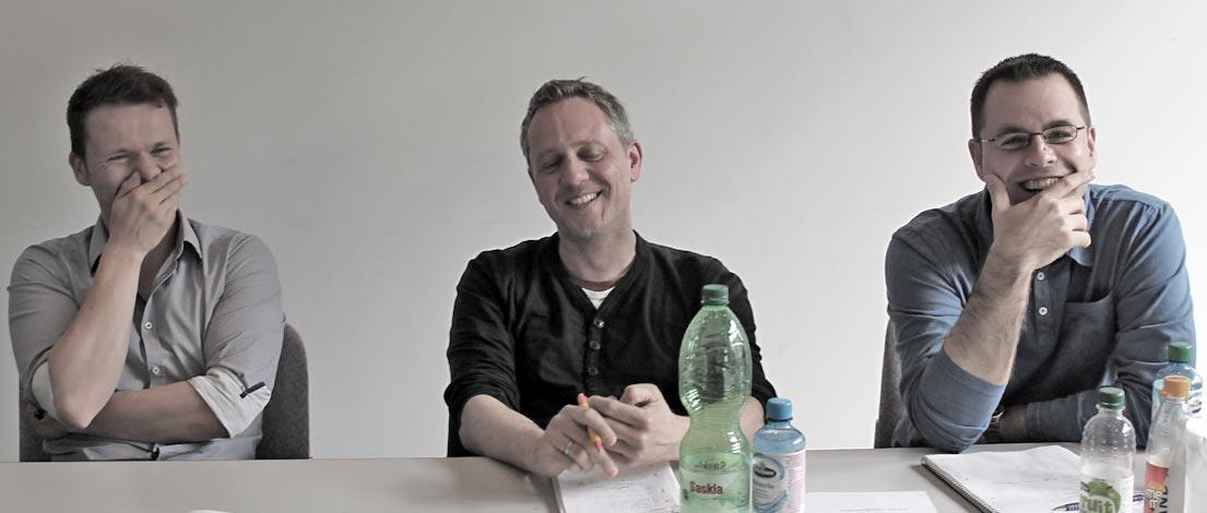 Frank Zinkewitz (Roman Klis Design GmbH, Herrenberg), Frank Stickel (Brunner Mobil Werbung GmbH + Co. KG, Böblingen) und Tim Dieter (Brunner Mobil Werbung GmbH + Co. KG, Böblingen).