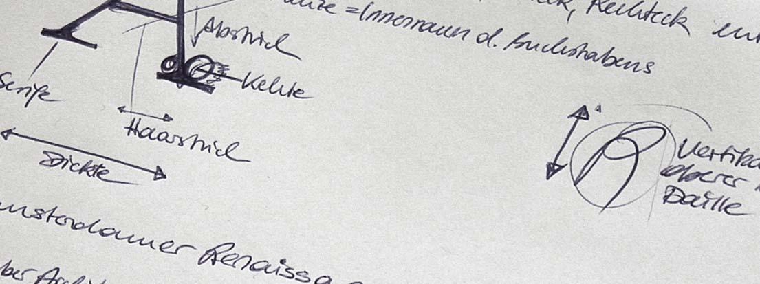 Notizen zum Seminar Typographie im Grafik- und Kommunikationsdesign in Wien.