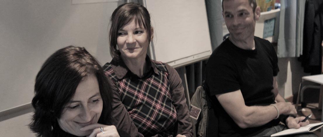 Edith Hemberger, Anja Rosenblatt und Wolfgang Hametner, F-2014-11-11