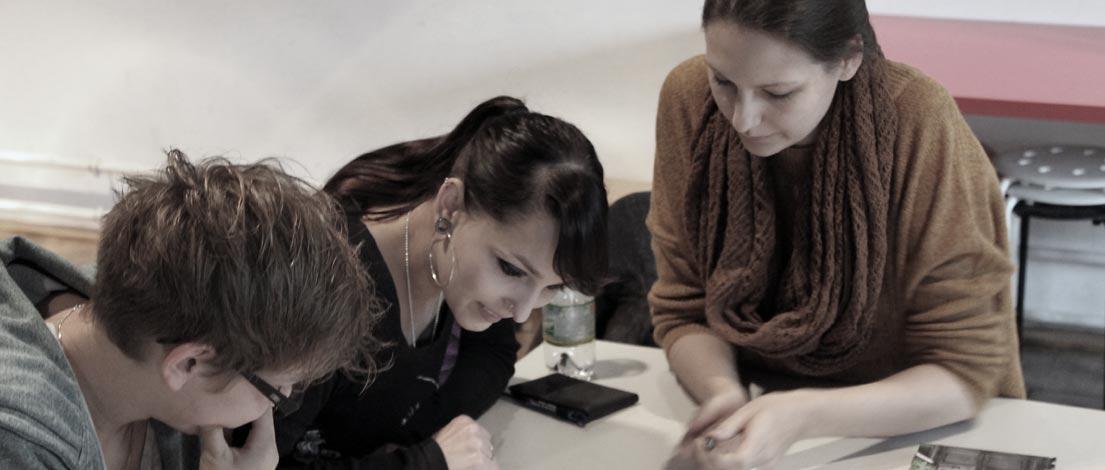 Lena Kettnacker (G+P Glanzer + Partner Werbeagentur GmbH, Stuttgart), Nadine Peredi (Deutscher Genossenschafts-Verlag eG, Wiesbaden) und Janina Muci (Deutscher Genossenschafts-Verlag eG, Wiesbaden).