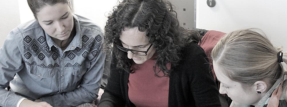 Lydia Rauscher, Francisca Vera García und Janine Blum. S-2013-11-25