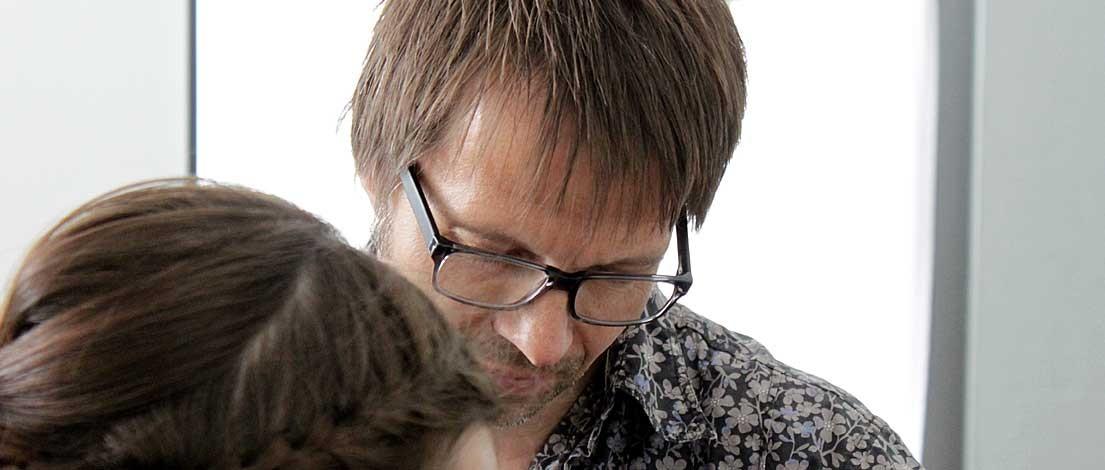 Armin Doll (SchömannCorporate GmbH, Berlin). Typoakademie, Seminar »Typografie im Grafik- und Kommunikationsdesign« und Workshop »Schriftmischung« am 5.–6. Juni 2015 in Berlin. Foto: Wolfgang Beinert, Berlin.