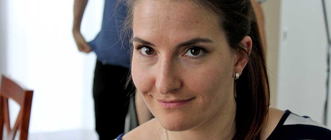 Johanna Braun (Informations- und Grafikdesign, Würzburg). Typoakademie, Seminar »Typografie im Grafik- und Kommunikationsdesign« und Workshop »Schriftmischung« am 5.–6. Juni 2015 in Berlin. Foto: Wolfgang Beinert, Berlin.