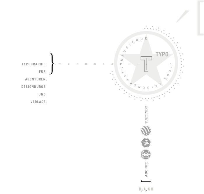 Typographie für Agenturen, Designbüros und Verlage