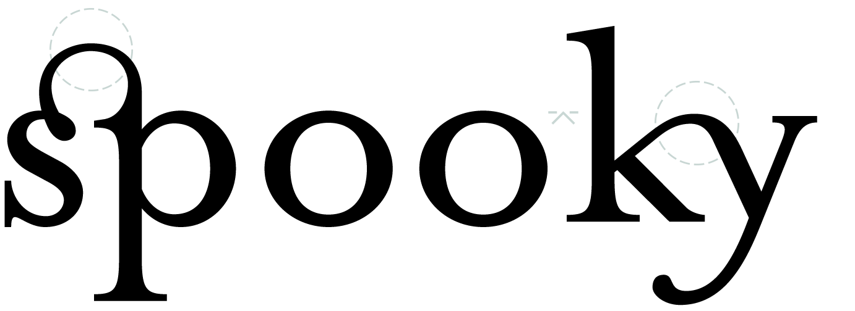 Typographische Zierligaturen »sp« und »ky«.
