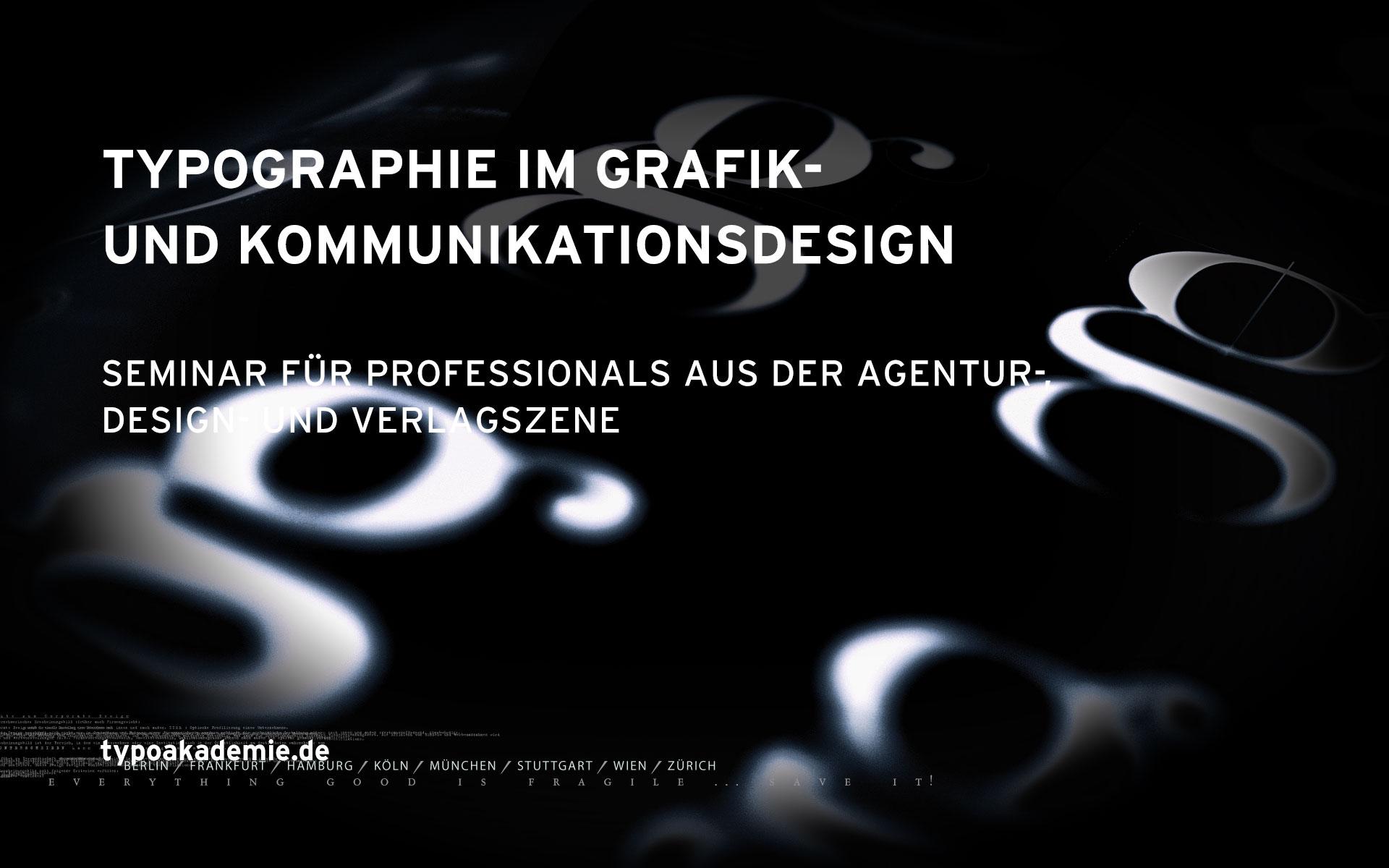 Banner »Typografie im Grafik- und Kommunikationsdesign«