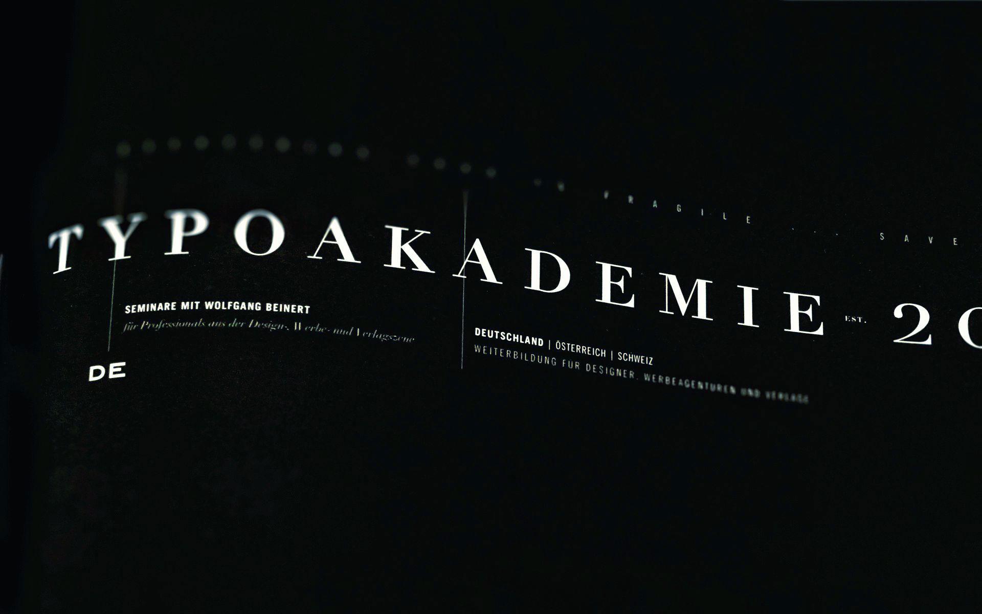 Typoakademie.de | Seminare für Professionals aus der Design-, Werbe- und Verlagszene.
